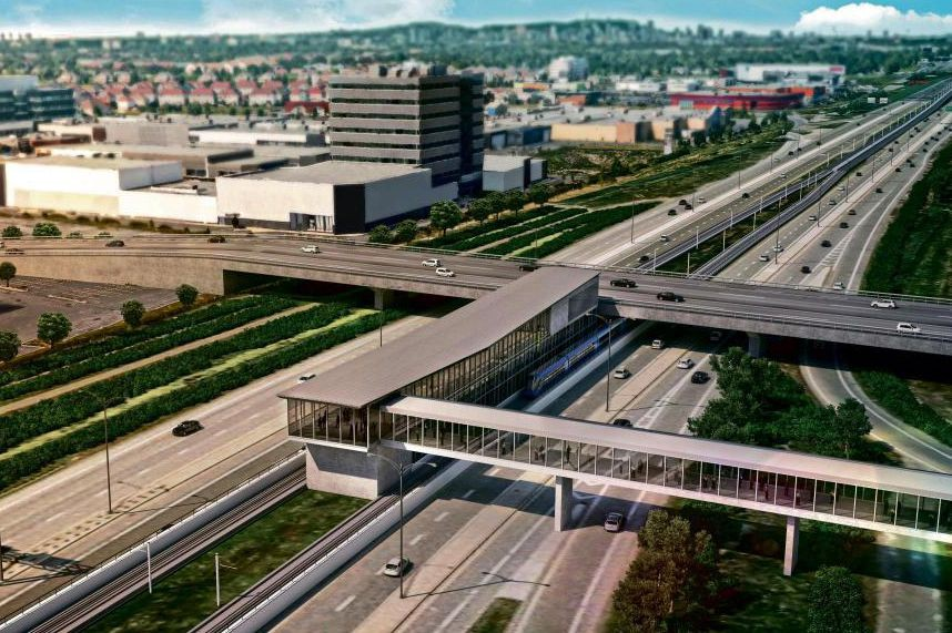 La Ville de Brossard souhaite voir construired'un nouveau... (Photo fournie par la Caisse de dépôt et placement du Québec)