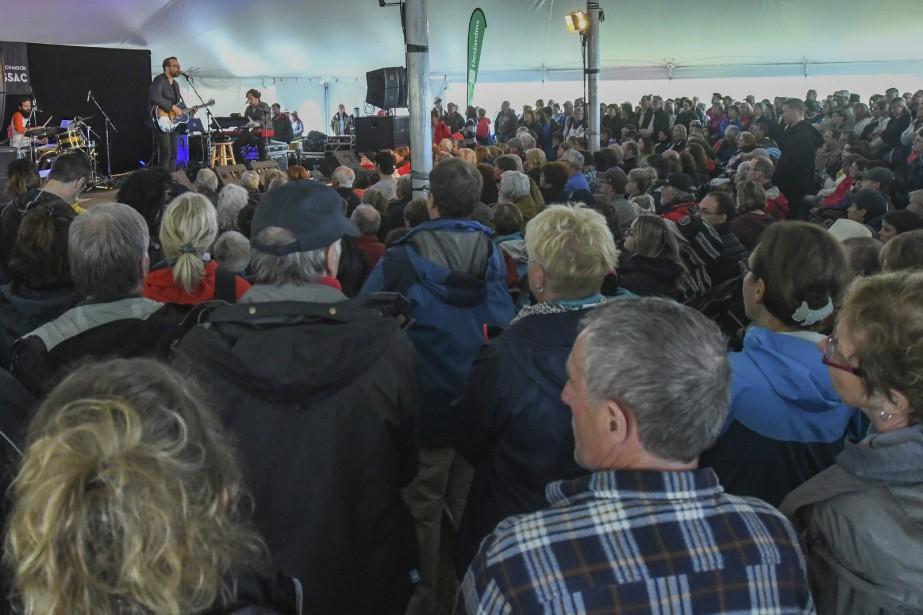Luc De Larochellière au Festival de la chanson de Tadoussac. (Le Quotidien, Michel Tremblay)