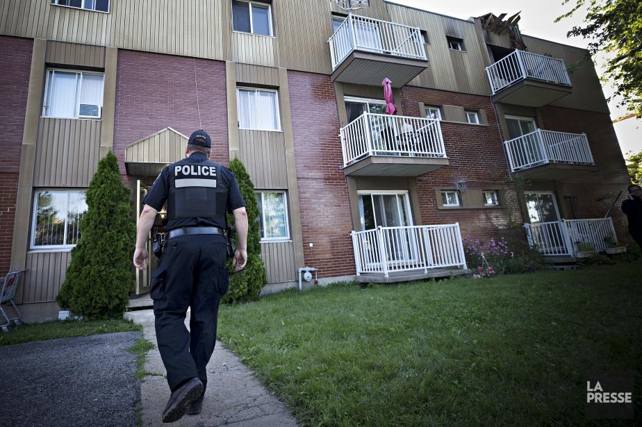 Les pompiers du Service de sécurité incendie de... (Photo Patrick Sanfaçon, La Presse)
