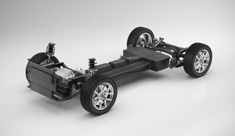 La plateforme automobile CMA de Volvo, en configuration tout électrique. (Volvo)