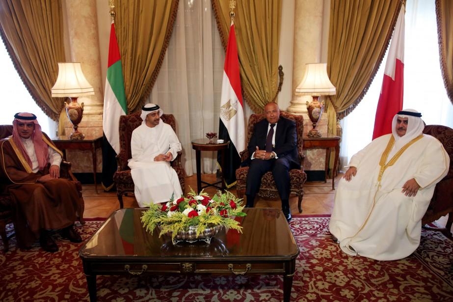 Au Caire, les chefs de la diplomatie saoudienne,... (REUTERS)
