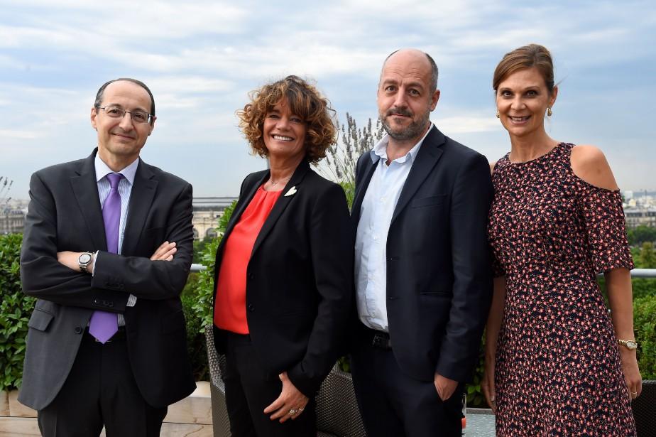 Louis Dreyfus, Laurence Bonicalzi Bridier,Marc Feuillée et Aurore... (AFP)