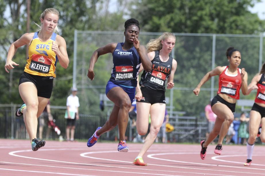 Au 200 mètres sénior, Renée Agboton. | 6 juillet 2017