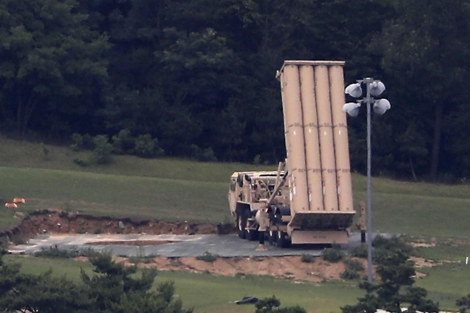 Le bouclier Thaad est conçu pour intercepter et... (Photo AP)