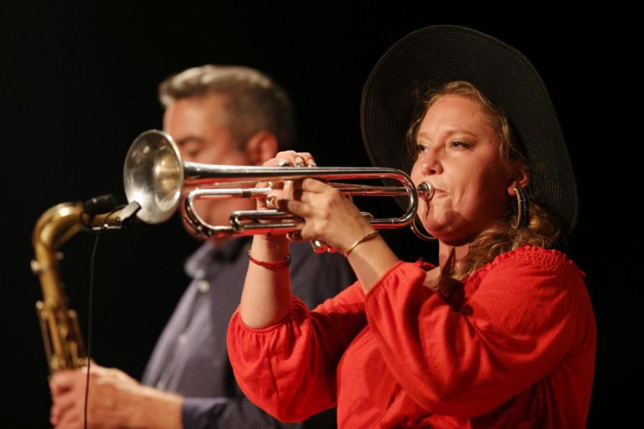 Trompettiste, bugliste, leader, compositrice, jazzwoman férue de culture... (PHOTO Martin Chamberland, LA PRESSE)