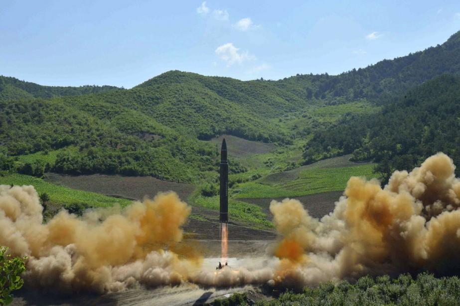 Le lancement réussi d'un missile balistique intercontinental, survenu... (Photo AP)