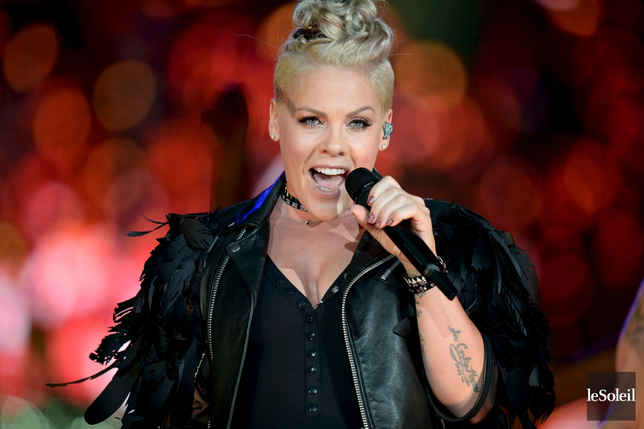 Pink en spectacle à Québec en juillet 2017.... (Photo Érick Labbé, archives Le Soleil)