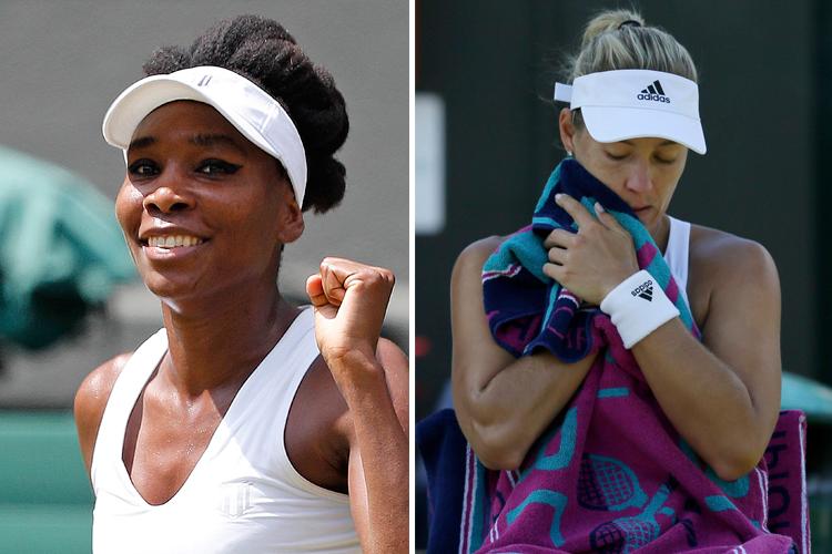Venus Williams poursuit sa route; Angelique Kerber perd... (Photos Reuters et AP)