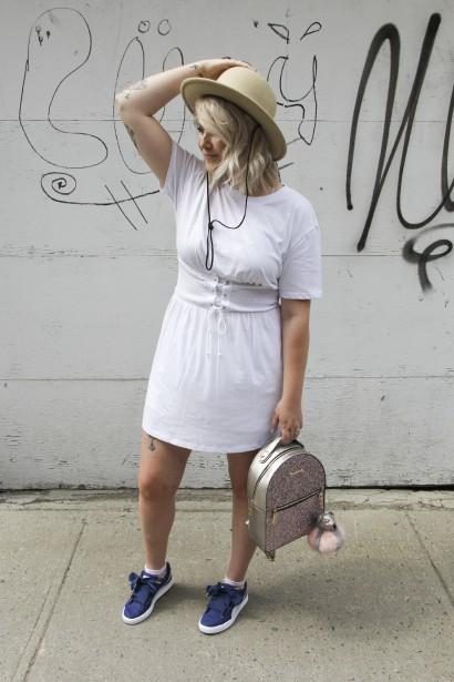 La cofondatrice de La Fabrique crépue Mary Lynn Kiley a pris sa robe chez H&M. (Fournie par Mary Lynn Kiley)