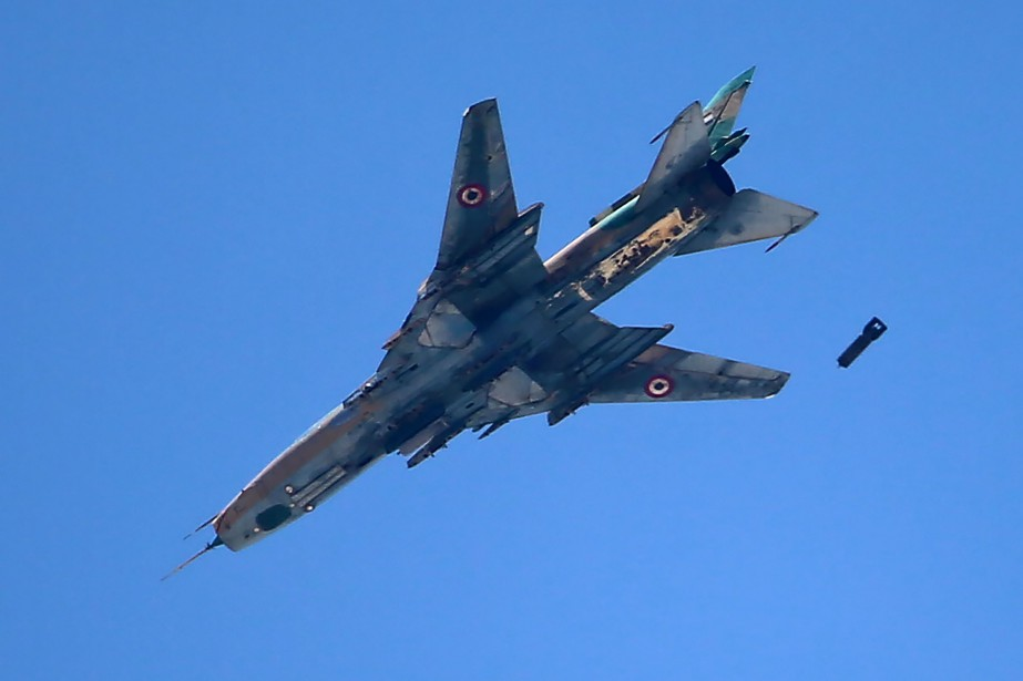 Un avion de l'armée syrienne.... (AFP)