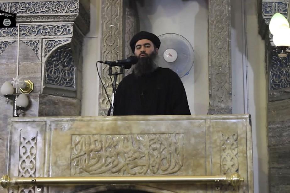 Abou Bakr al-Baghdadi, en juillet 2014, à Mossoul... (AFP)
