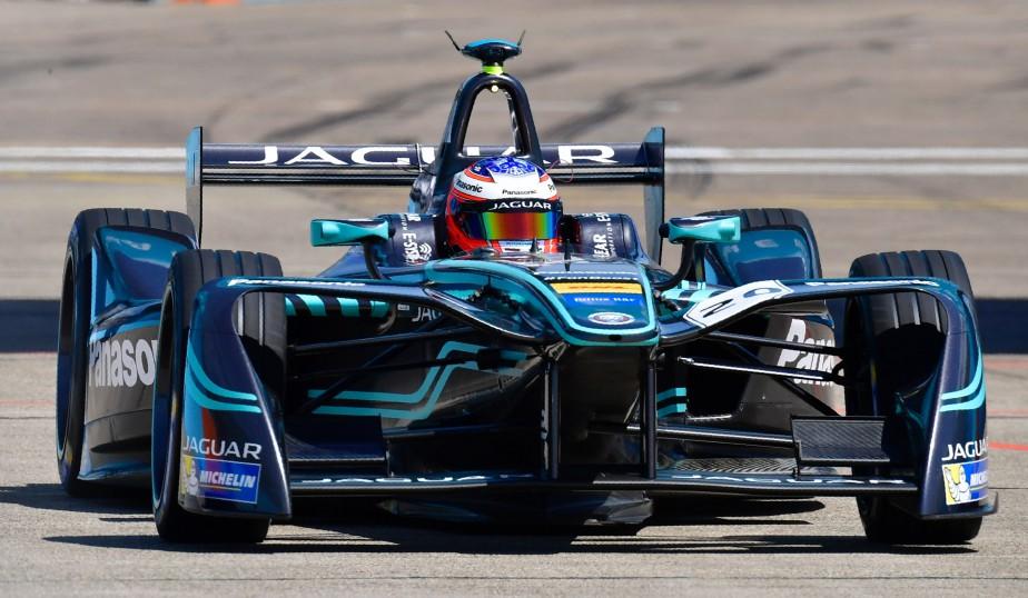 L'Australien Mitch Evans (de l'écurie Panasonic-Jaguar), durant les qualifications du GP de Formule E de Berlin, le 11 juin dernier.<br /><br /> (AFP)
