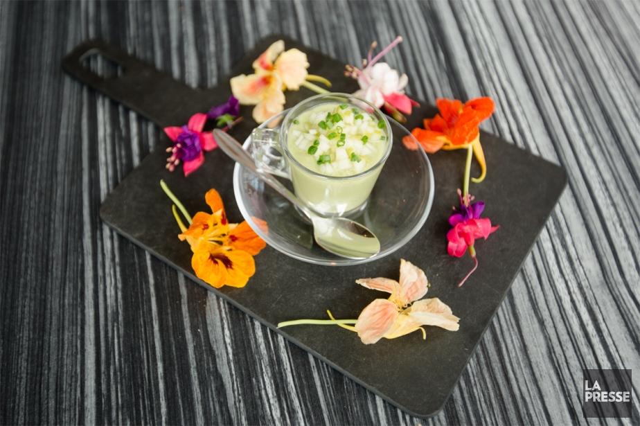 Cette soupe froide est idéale pour les jours... (Photo Ninon Pednault, La Presse)