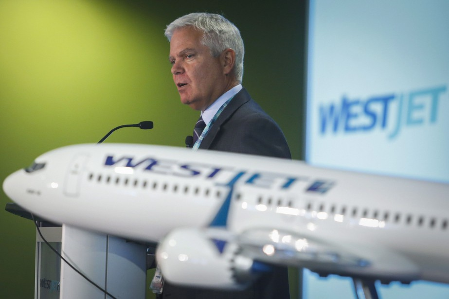 Gregg Saretsky, president and CEO of WestJet, addresses... (THE CANADIAN PRESS)