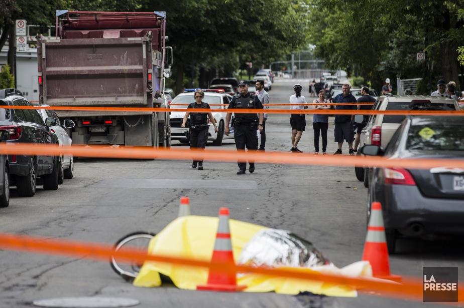 L'accident est survenu à l'intersection de la rue... (PHOTO EDOUARD PLANTE-FRECHETTE, LA PRESSE)