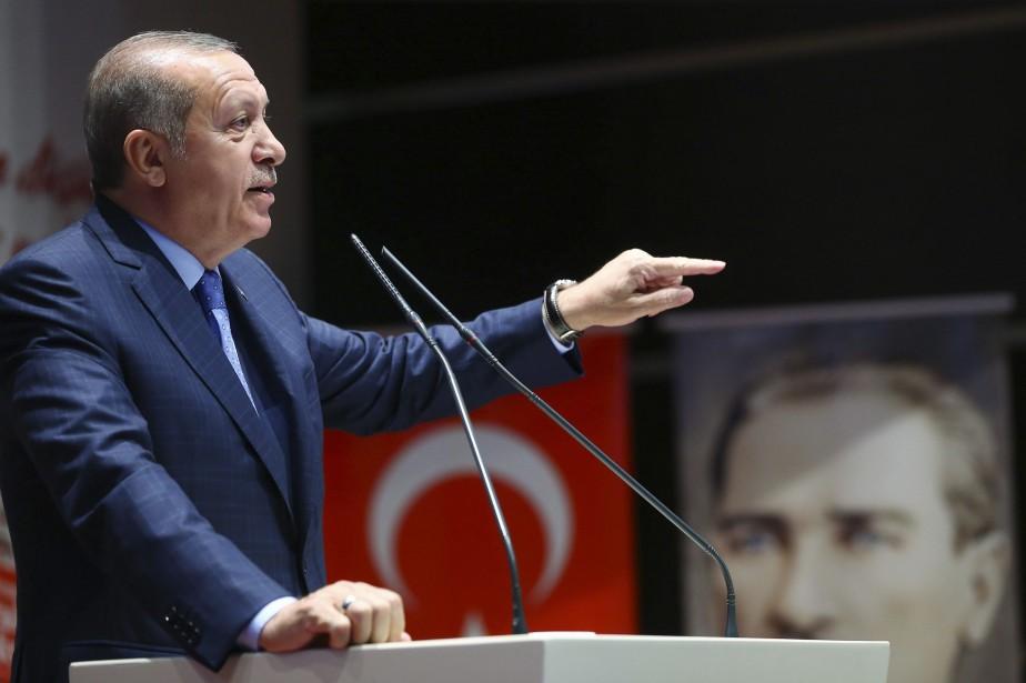 Le président turc Recep Tayyip Erdogan... (PHOTO AP/GOUVERNEMENT TURQUE)