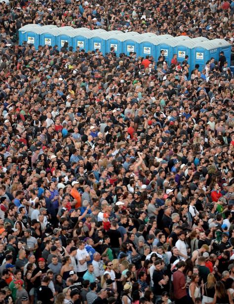 La foule sur les Plaines | 14 juillet 2017