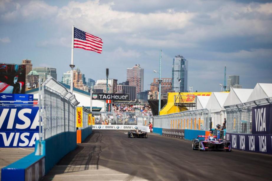 La Formule Électrique organisait ce week-end, à Brooklyn,... (Photo Michael Noble Jr., Associated Press)