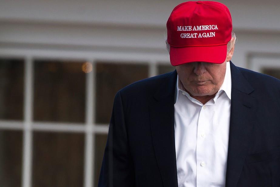 Letaux d'opinions favorables de Donald Trump est tombé... (PHOTO AFP)