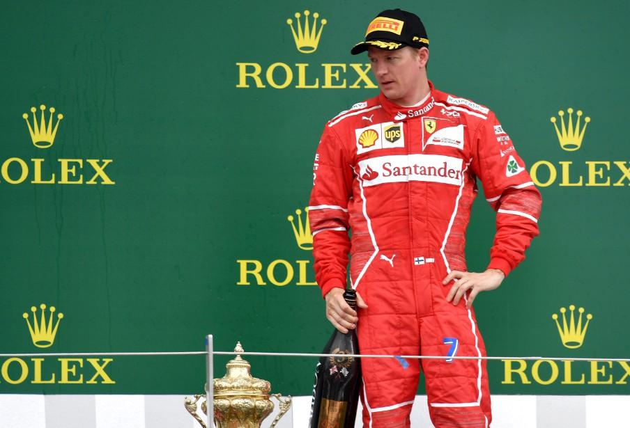 Le Finlandais Kimi Raïkkönen a sauvé les meubles pour Ferrari dimanche avec sa troisième place. (AFP)