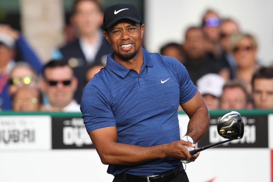 Tiger Woods lors d'un tournoi en février dernier.... (PHOTO ARCHIVES AFP)