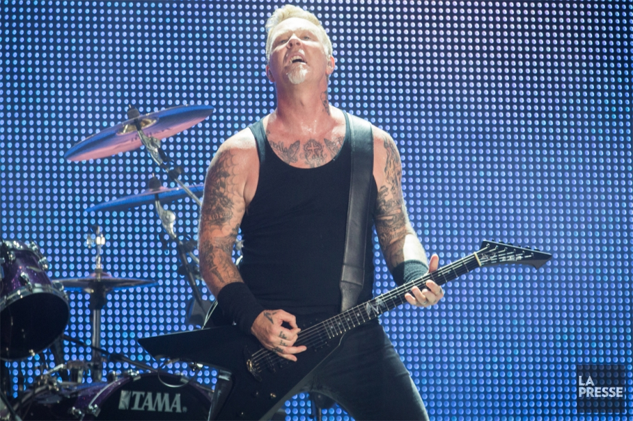 James Hetfield et son groupe Metallica ont donné... (PHOTO OLIVIER PONTBRIAND, LA PRESSE)