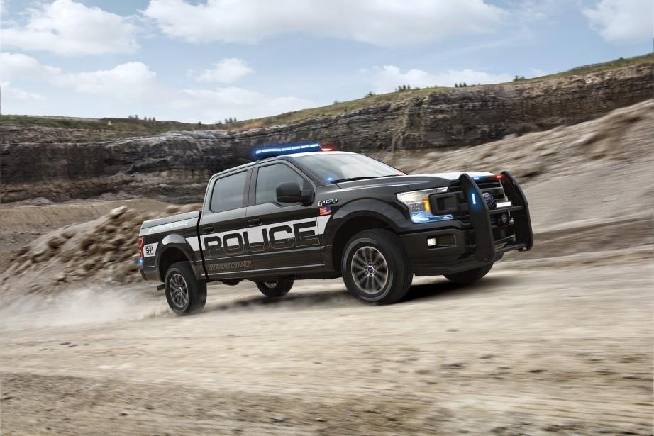 Le F-150 off-road est un véhicule de police dont le pare-buffle pourrait vraiment servir sur un buffle. ()