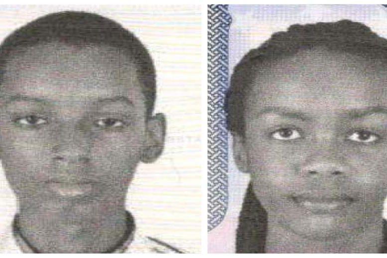 Les Burundais Don Ingabire, 16ans, et Audrey Mwamikazi,... (Photo Reuters/Metropolitan Police Department)