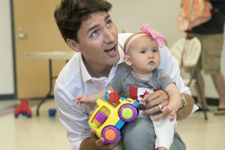 Justin Trudeau était de passage à Barrie, en... (Photo Fred Thornhill, La Presse canadienne)