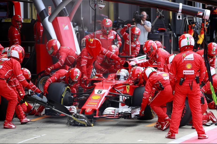 Sebastian Vettel a été forcé de faire un... (Photo : AFP)
