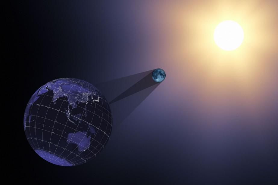 «Cette éclipse solaire totale à travers les États-Unis... (Illustration fournie par la NASA)