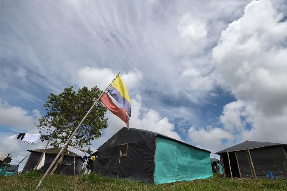 Un camp des FARC, à Mesetas.... (PHOTO AFP)