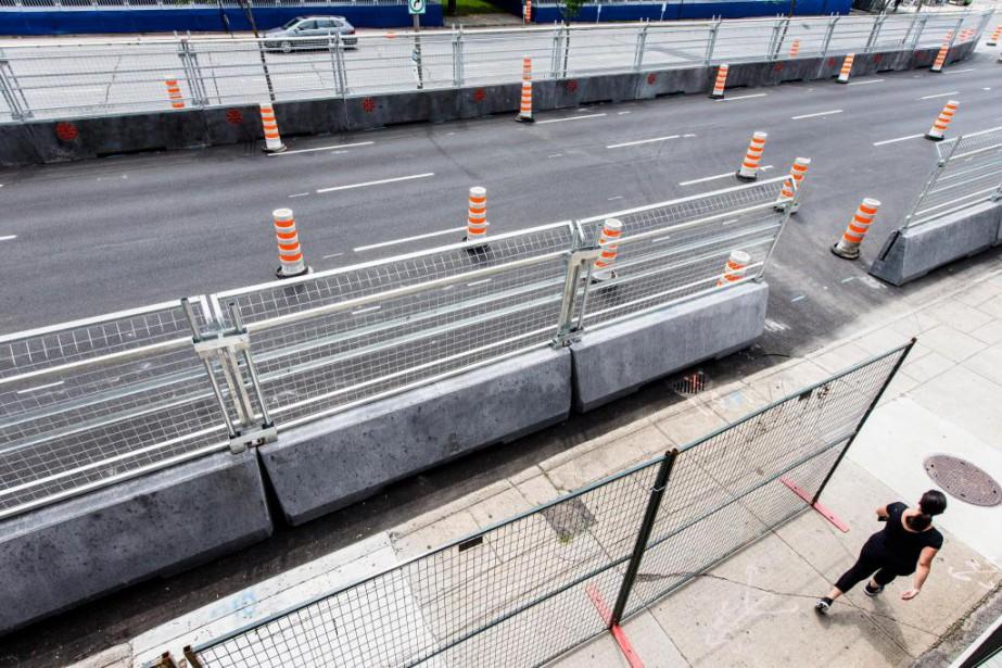 Les murets de la Formule électrique ont coûté... (Photo Edouard Plante-Fréchette, La Presse)