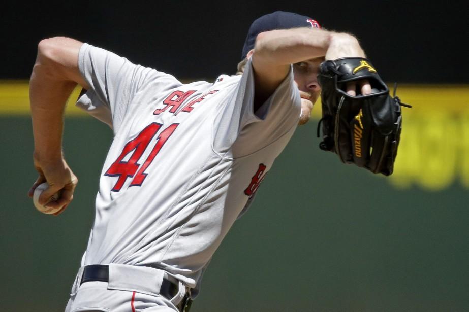 Le lanceur des Red Sox Chris Sale... (PHOTO Ted S. Warren, AP)