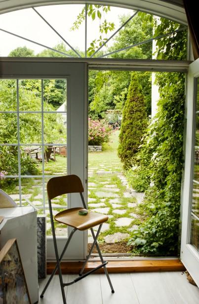 L'atelier de Brigitte Thériault donne sur la cour. (Brigitte Thériault)