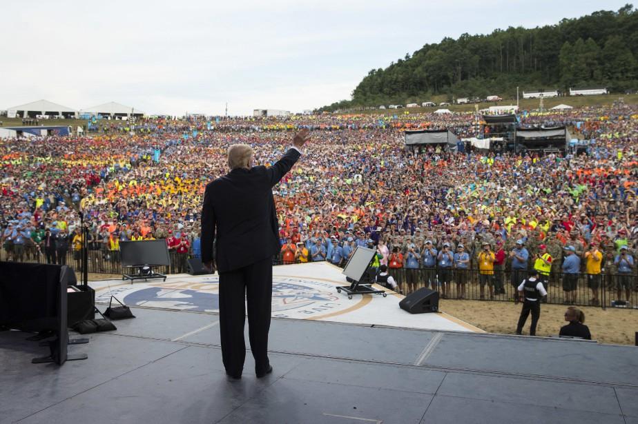 Donald Trump s'est exprimé en début de semainedevant... (Photo Carolyn Kaster, AP)