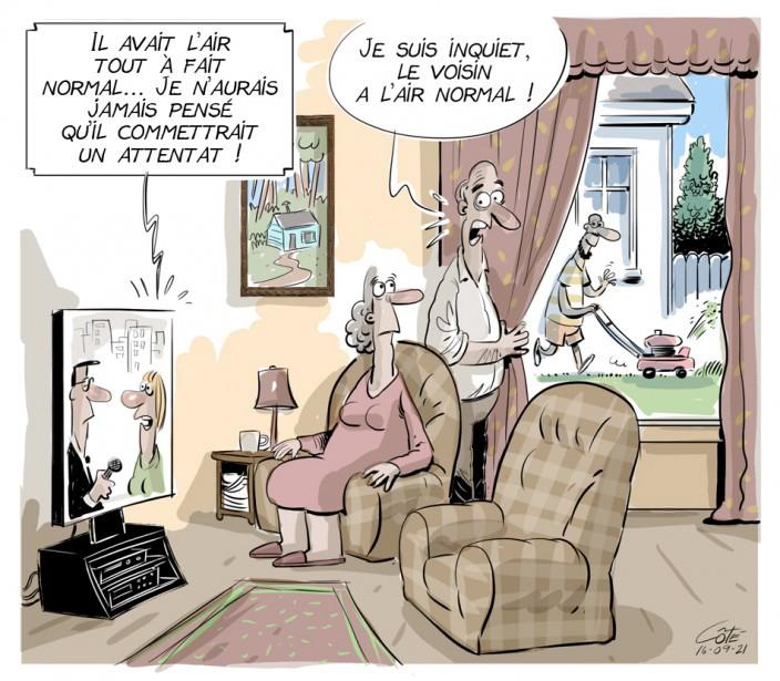 Caricature du 28 juillet (en reprise) (Le Soleil, André-Philippe Côté)