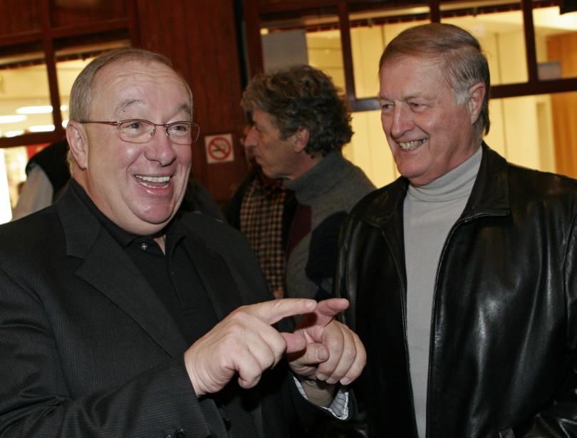 Jacques Demers et Maurice Filion en 2005 (Photothèque Le Soleil)