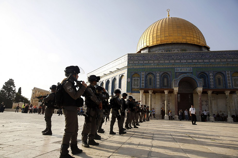 Israël avait justifié la mise en place d'un... (PHOTO MAHMOUD ILLEAN, ASSOCIATED PRESS)