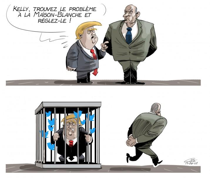 Caricature du 2 août (Le Soleil, André-Philippe Côté)