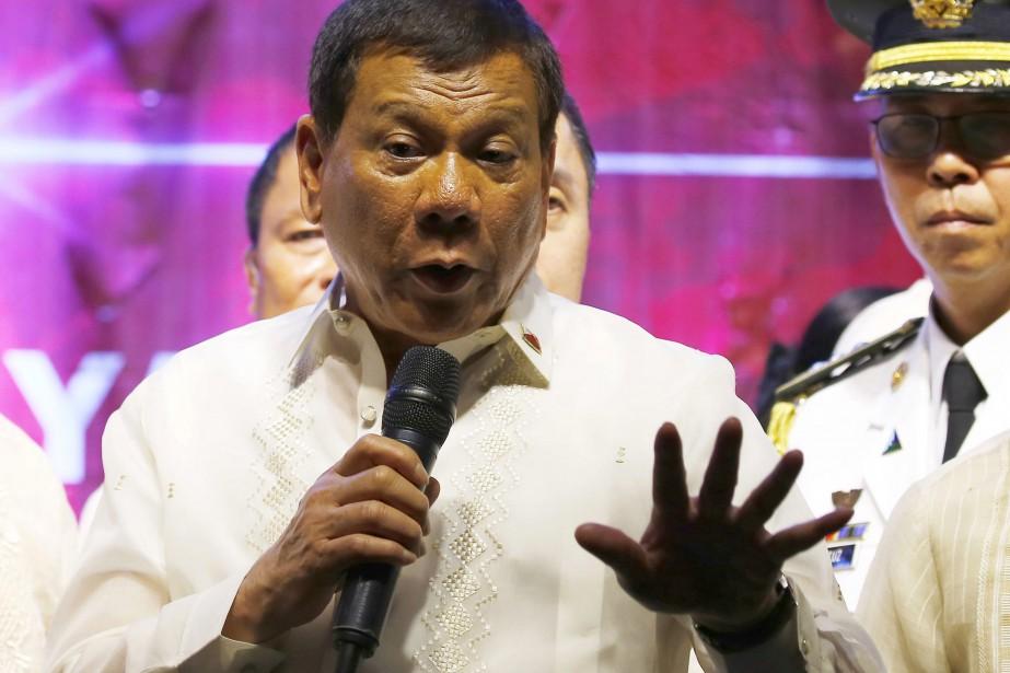 Le président RodrigoDuterte s'est lâché contre le dirigeant... (Photo Bullit Marquez, archives AP)
