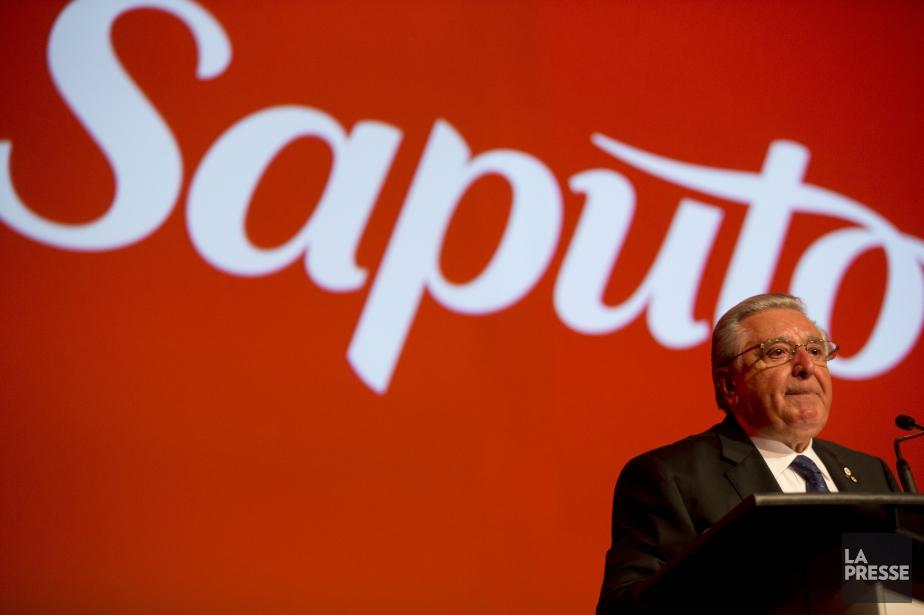 Lino Saputoa livré une allocution empreinte d'émotion lors... (PHOTO FRANCOIS ROY, LA PRESSE)