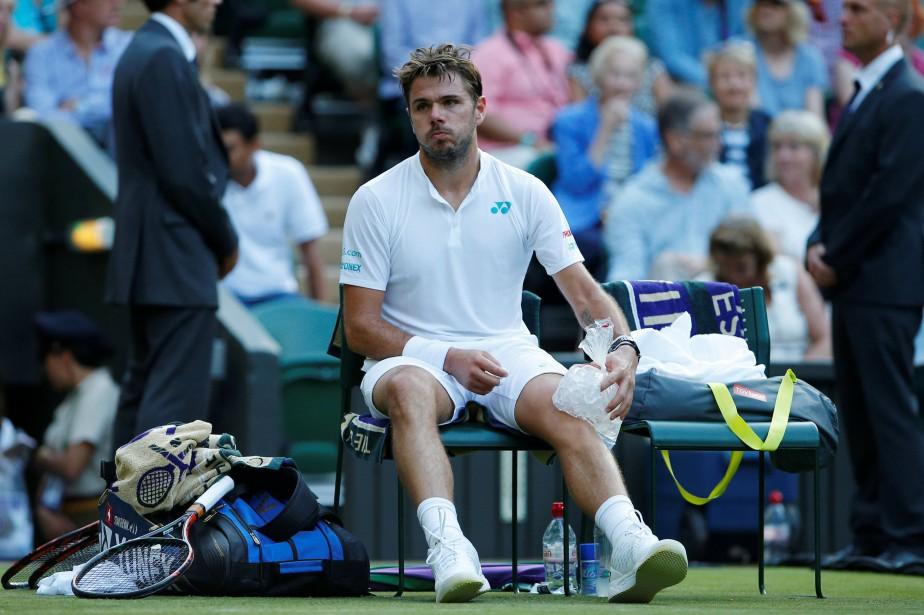 Stan Wawrinkasouffre d'une blessure à un genou.... (Photo Andrew Couldridge, Reuters)