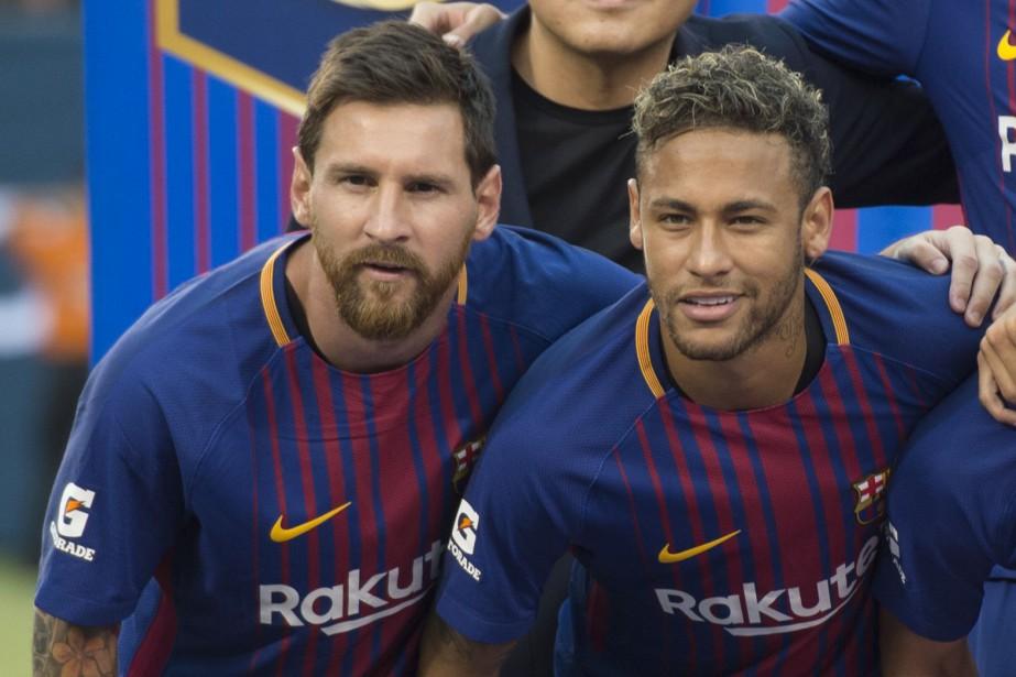 Lionel Messi et Neymar... (Photo Don Emmert, AFP)