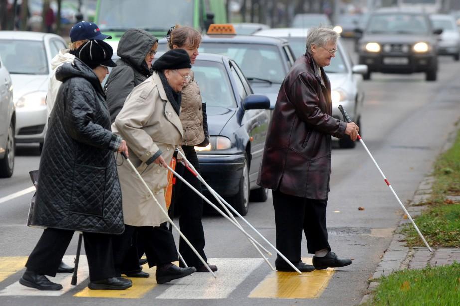 Il y avait 36 millions de personnes aveugles dans le monde en... (ARCHIVES AFP)