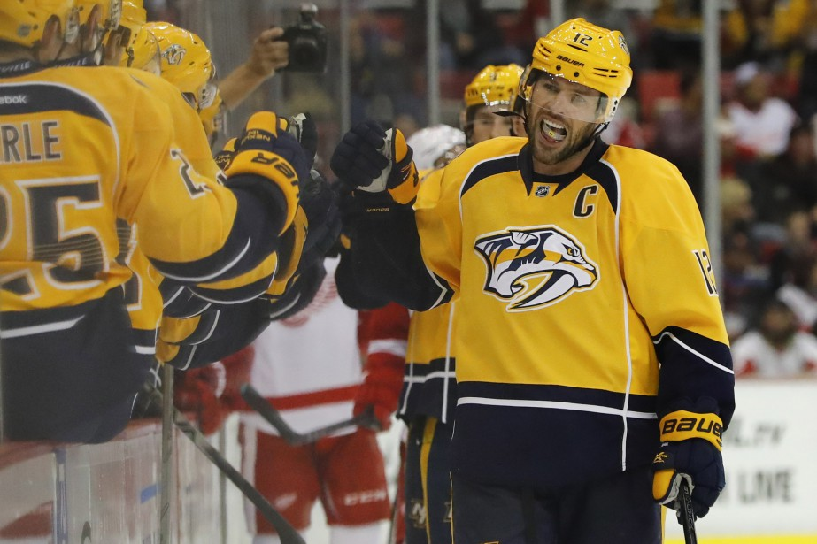Mike Fisher a amassé 276 buts et 309 mentions... (Photo Rick Osentoski, archives USA Today Sports)