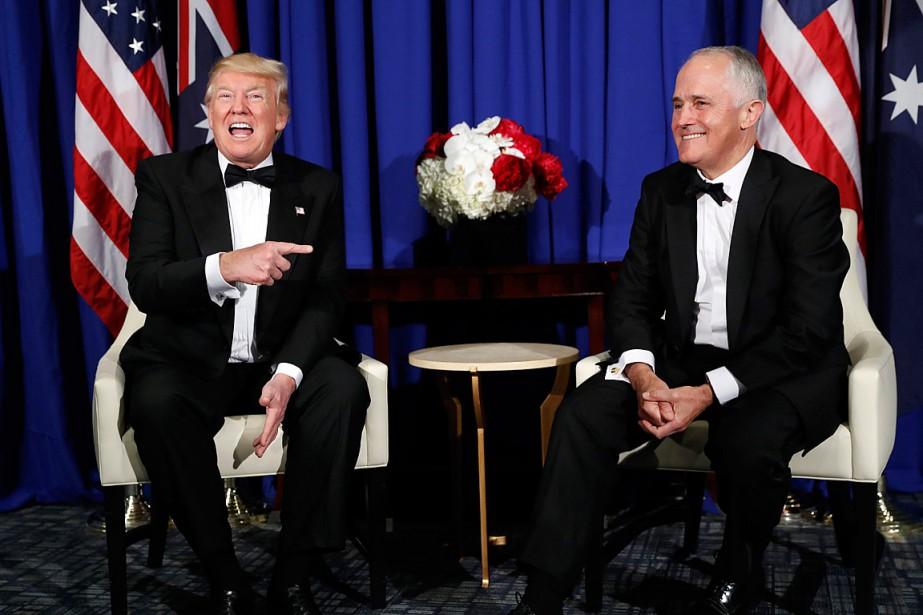 Le président américain Donald Trump a rencontré son... (PHOTO PABLO MARTINEZ MONSIVAIS, ASSOCIATED PRESS)