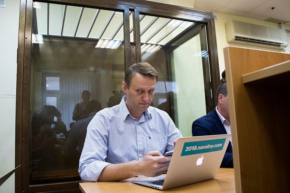 Alexeï Navalnya été reconnu coupable de fraude en... (PHOTO IVAN SEKRETAREV, ASSOCIATED PRESS)