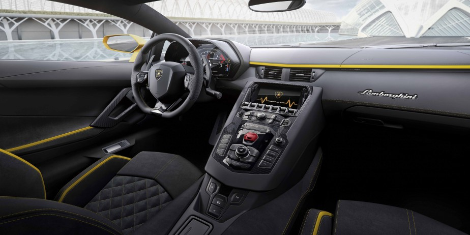 L'intérieur de la Lamborghini Aventador | 4 août 2017