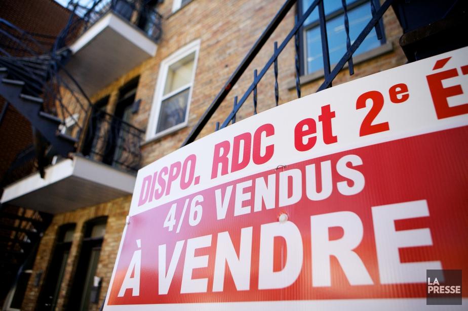En comparaison, les ventes de logements ont plongé... (PHOTO SARAH MONGEAU-BIRKETT, ARCHIVES LA PRESSE)